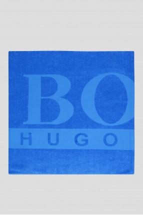 Мужское синее пляжное полотенце 1