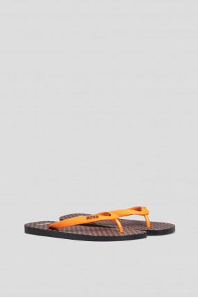 Мужские оранжевые вьетнамки 1