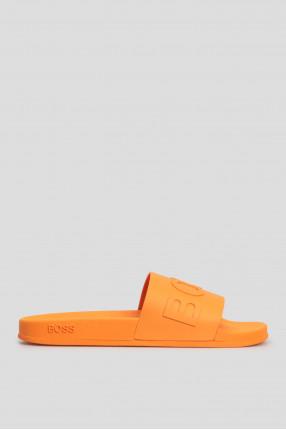 Мужские оранжевые слайдеры