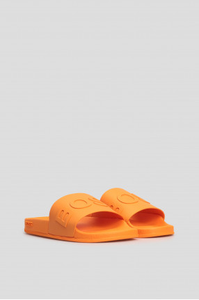 Мужские оранжевые слайдеры 1