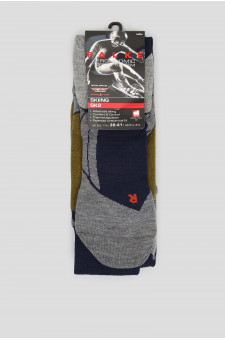 Мужские лыжные носки с узором SK2