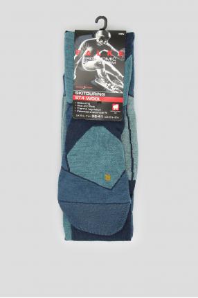Мужские лыжные носки с узором ST4 WOOL