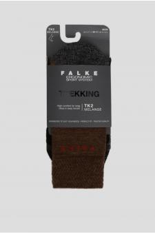 Мужские коричневые треккинговые носки