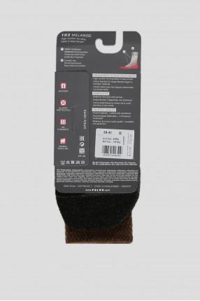 Мужские коричневые треккинговые носки 1