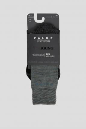 Мужские серые треккинговые носки