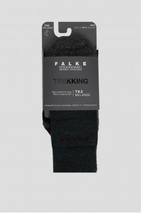 Мужские темно-зеленые треккинговые носки