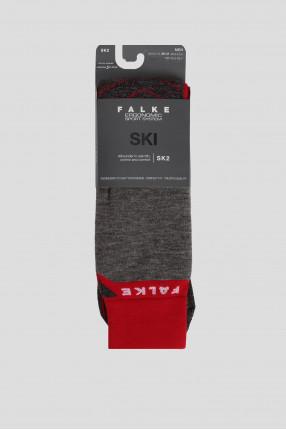 Мужские серые лыжные носки SK2