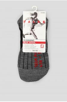 Женские серые носки для бега RU4 WOOL