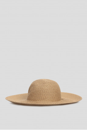 Женская бежевая шляпа