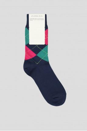 Женские синие носки с узором 1