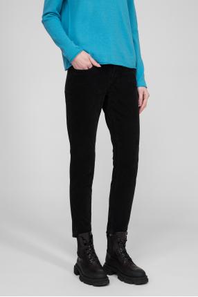 Женские черные бархатные брюки 1