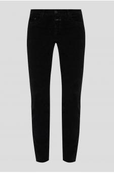 Женские черные бархатные брюки