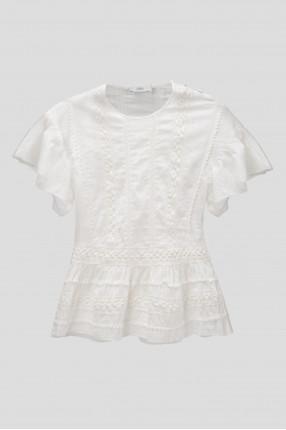 Женская белая блуза ROSALIE