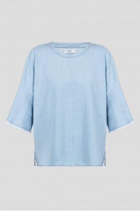 Женская голубая блуза