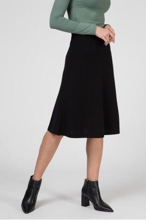 Женская черная шерстяная юбка 1