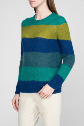 Женский шерстяной свитер в полоску 1