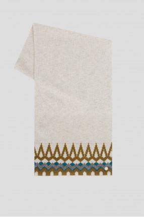 Женский шерстяной шарф с узором