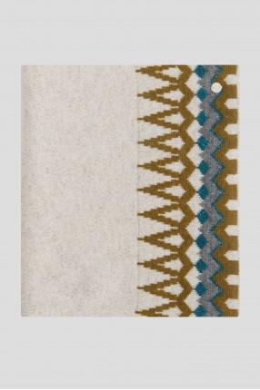 Женский шерстяной шарф с узором 1