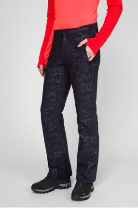Мужские черные лыжные брюки с принтом 1