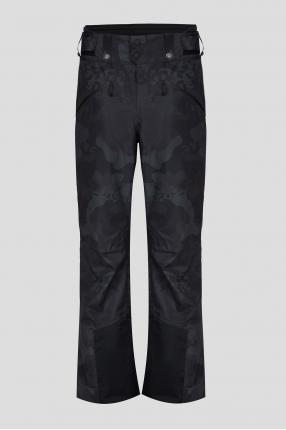 Мужские темно-синие камуфляжные лыжные брюки