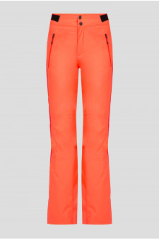 Женские оранжевые лыжные брюки