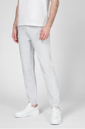 Мужские светло-серые спортивные брюки 1