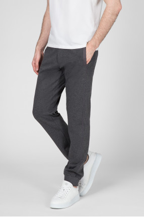 Мужские темно-серые спортивные брюки 1