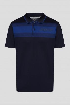 Мужское темно-синее поло
