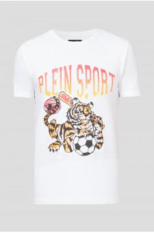 Мужская белая футболка TIGER