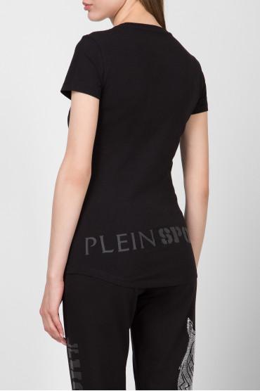 Женская черная футболка 3