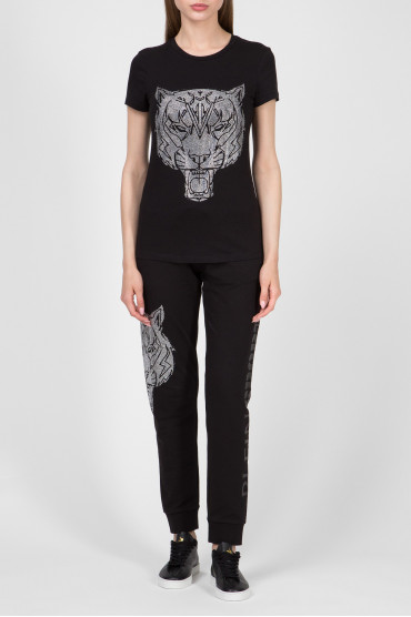 Женская черная футболка 5