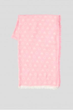 Женский розовый платок