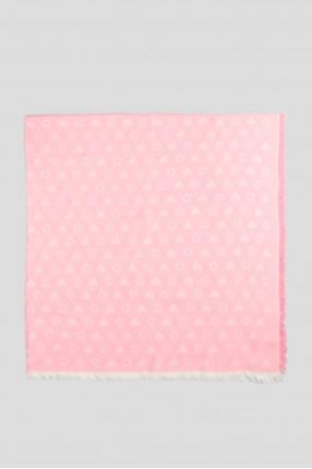 Женский розовый платок 1
