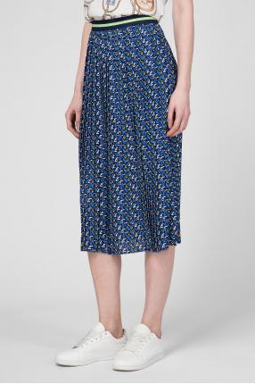 Женская синяя плиссированная юбка 1
