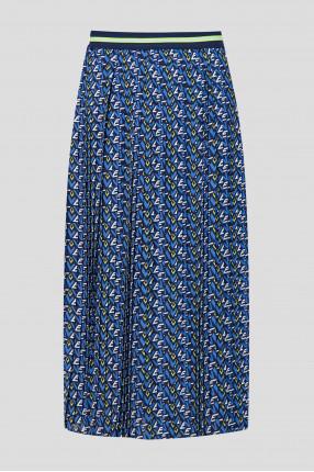 Женская синяя плиссированная юбка