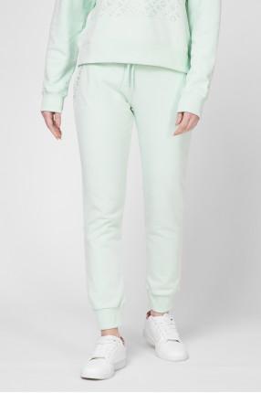 Женские бирюзовые спортивные брюки 1