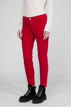 Женские красные бархатные брюки 1