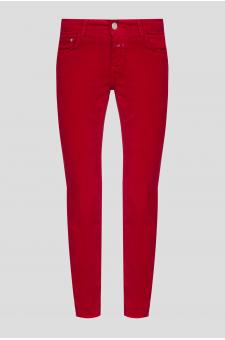 Женские красные бархатные брюки
