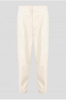 Женские бежевые вельветовые брюки