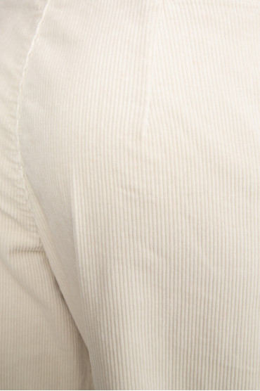 Женские бежевые вельветовые брюки 4