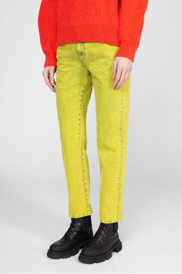Женские желтые джинсы 2