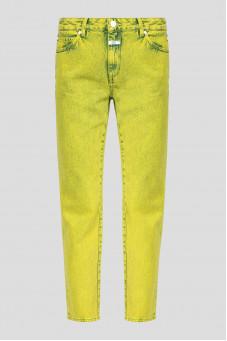 Женские желтые джинсы