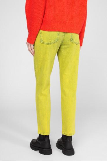 Женские желтые джинсы 3