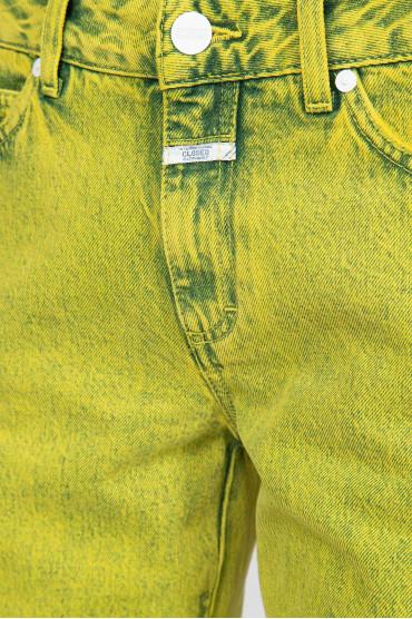 Женские желтые джинсы 4