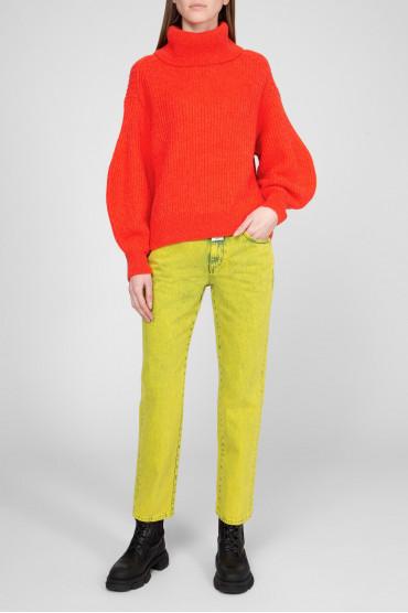 Женские желтые джинсы 5