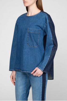 Женская синяя джинсовая рубашка 1