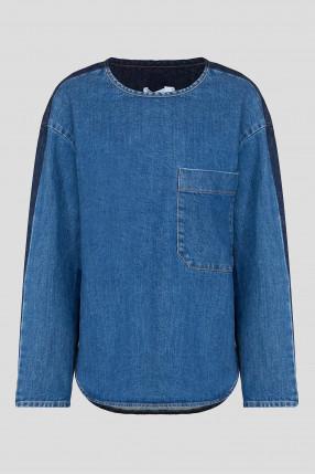 Женская синяя джинсовая рубашка