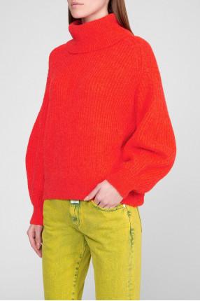 Женский оранжевый свитер 1