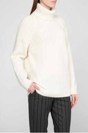 Женские белый шерстяной свитер 1
