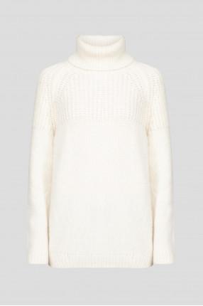Женские белый шерстяной свитер